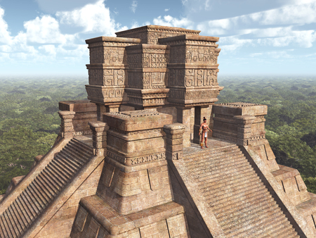 3d temple: Mayan Temple