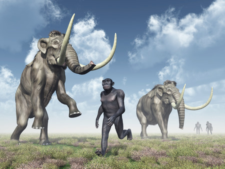 habilis: Homo Habilis and Mammoths