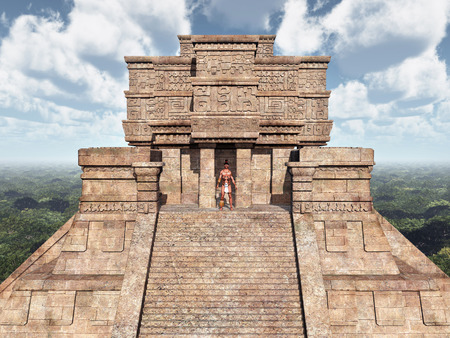 3d temple: Mayan Temple