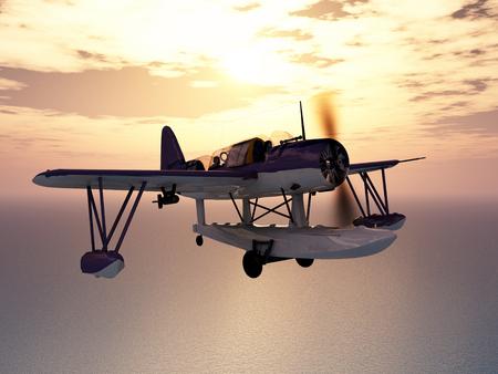 world war ii: American observation floatplane of World War II Stock Photo