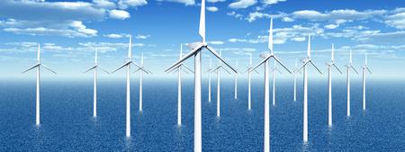 Offshore wind power 版權商用圖片