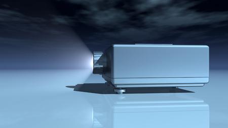 light source: Slide projector
