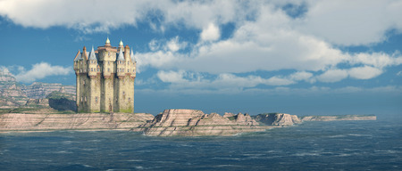 fortification: Scottish castle by the sea
