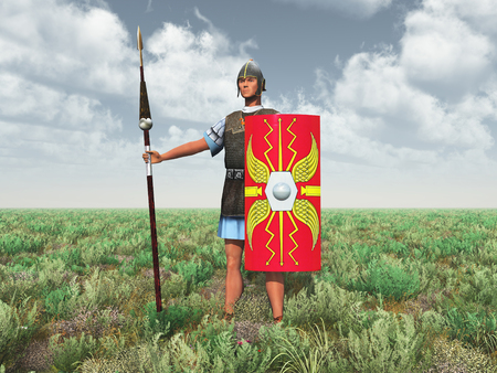 ancient warrior: Roman legionary