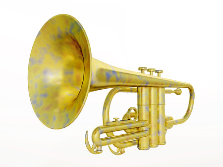 trumpet isolated: Trumpet isolated on white background