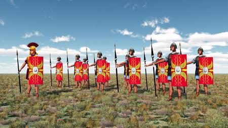 warrior: Centurion and legionaries
