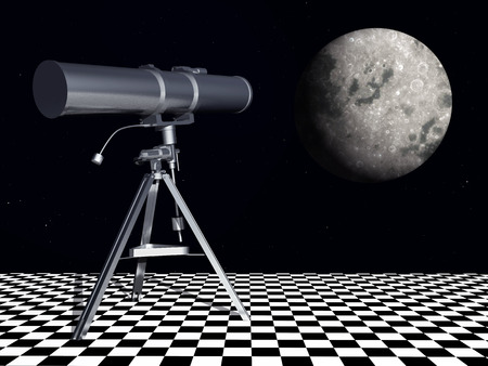 cosmology: Telescope in front of the moon