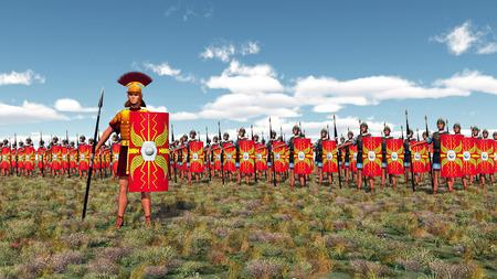 Centurion et légionnaires romains Banque d'images - 52592858