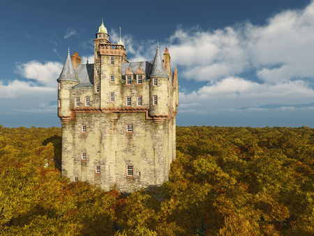 fortification: Scottish castle Stock Photo