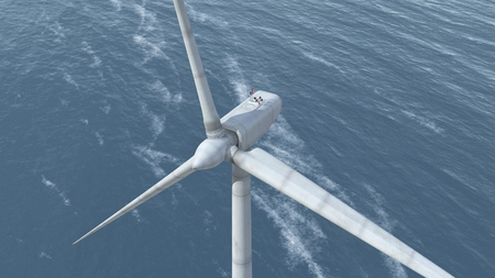 rotor: Offshore wind power Stock Photo