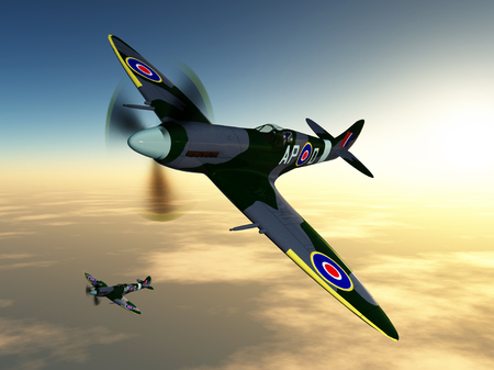air war: British fighter aircrafts of World War II