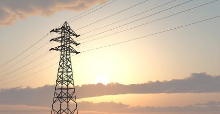Overhead power line Stock Photo
