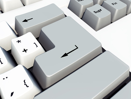 input device: Enter key on a computer keyboard