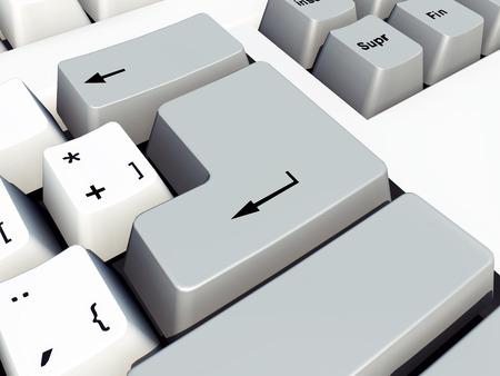 tecla enter: Introduzca tecla en un teclado de computadora