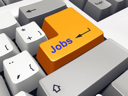 jobs: Computer keyboard with Jobs key Stock Photo