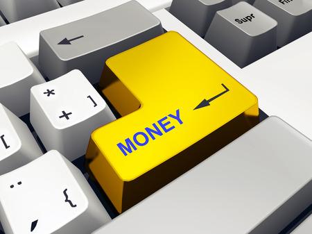 computer key: Computer keyboard with Money key