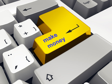 make money: Computer keyboard with make money key