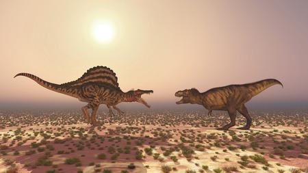 tyrannosaurus rex: Spinosaurus and Tyrannosaurus Rex