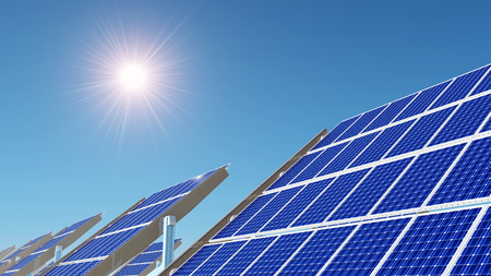 power station: Photovoltaic power station Stock Photo