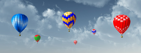 ballooning: Hot air balloons