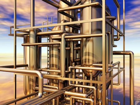 refinery: Oil refinery
