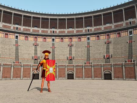 roma antigua: Centun y el Coliseo en Roma antigua