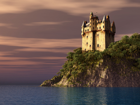 fortress: Scottish castle by the sea