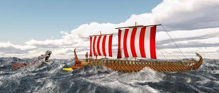 homer: Odysseus, Charybdis and Skylla