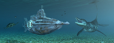 wildlife: Fantasy submarine and marine wildlife