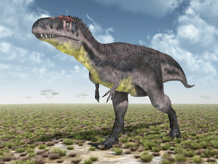 monstrous: Dinosaur Tyrannotitan Stock Photo