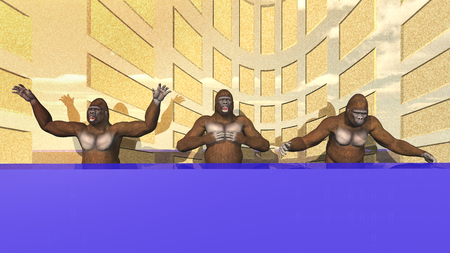 moderate: Monkey businessmen