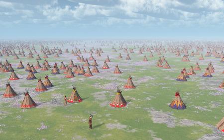 plains indian: Big Indian Camp