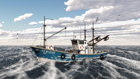 shrimp boat: Fishing trawler Stock Photo