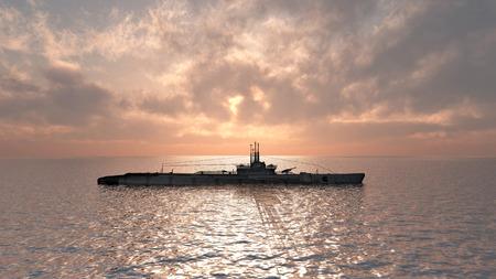 sous-marin américain de la Seconde Guerre mondiale Banque d'images