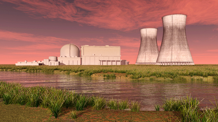 nuclear fission: Nuclear power plant