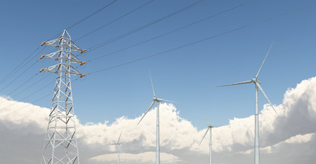 rotor: Wind turbines and overhead power line