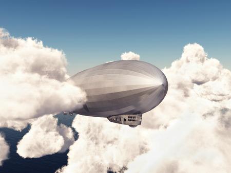 blimp: Zeppelin between the clouds