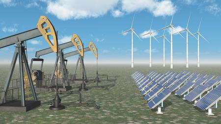 electricity prices: Oil industry versus renewable energy