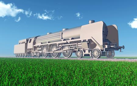 steam locomotive: Steam locomotive