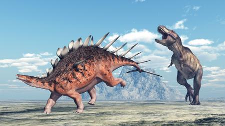 tyrannosaurus rex: Kentrosaurus y Tyrannosaurus Rex