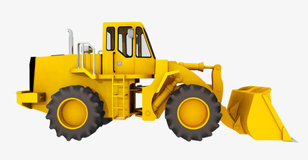 civil construction: Side view of a loader