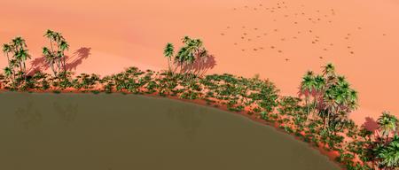 sand dune: Oasis in the desert