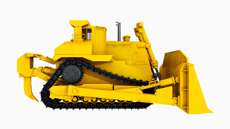 sideview: Side view of a bulldozer