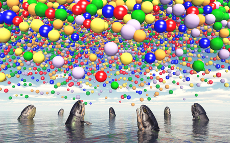 unusually: Fish and toy balloons