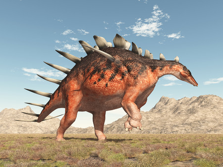 monstrous: Dinosaur Kentrosaurus Stock Photo