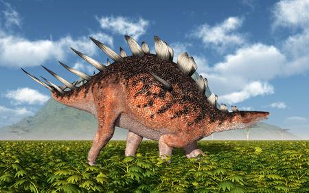 monstrous: Dinosaur Kentrosaurus Stock Photo