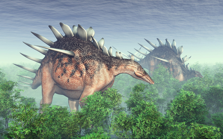 paleontology: Dinosaur Kentrosaurus Stock Photo