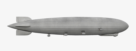 blimp: Side view of a Zeppelin