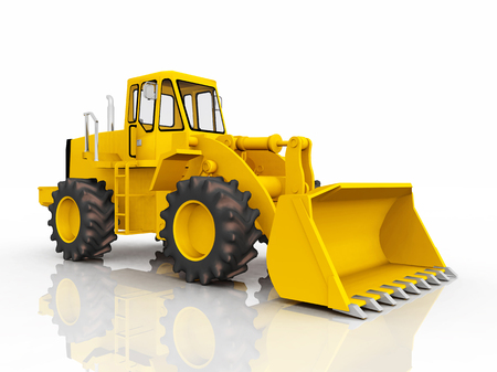 cargador frontal: Loader against a white background Foto de archivo