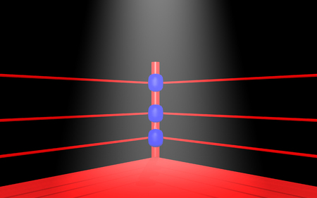 Spotlight in boxing ring